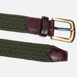 Мужской ремень Barbour Stretch Webbing Leather Khaki фото- 1