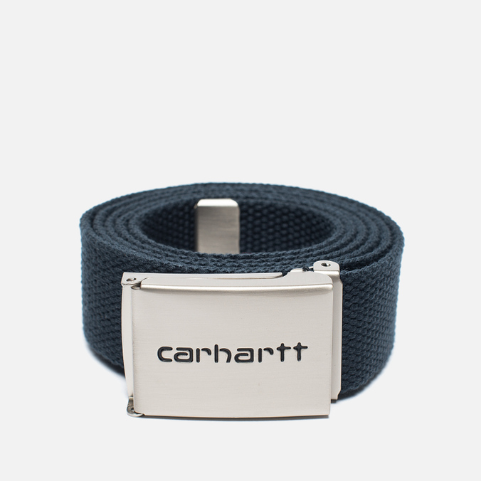 Мужской ремень Carhartt WIP Clip Chrome Navy