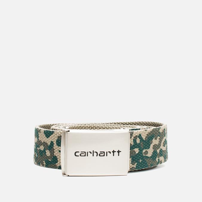 Ремень Carhartt WIP Clip Chrome Camo Stain Leaf
