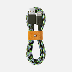 Кабель Native Union x Maison Kitsune Belt Apple Lightning 1.2m Green