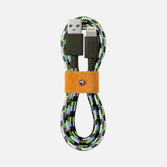 Кабель Native Union x Maison Kitsune Belt Apple Lightning 1.2m Green