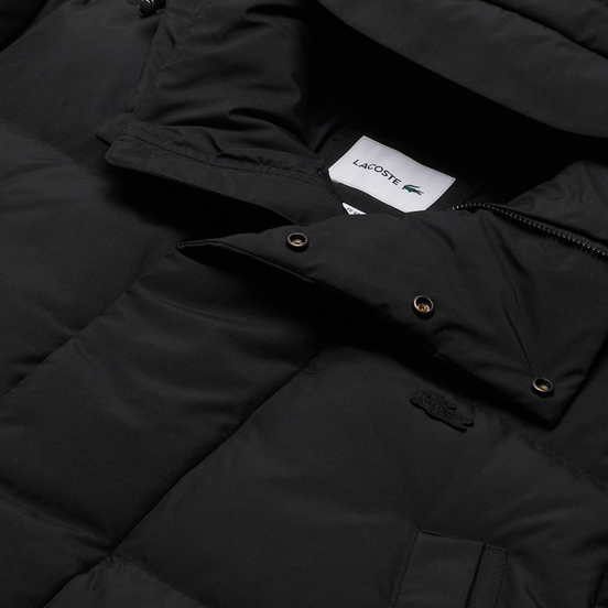 Мужской пуховик Lacoste Detachable Long Hood Black