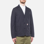 Garbstore Reverse Prison Off Cut Blazer Navy photo- 0