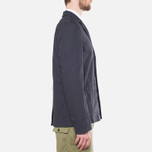 Garbstore Reverse Prison Off Cut Blazer Navy photo- 1