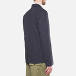 Garbstore Reverse Prison Off Cut Blazer Navy photo- 2