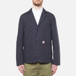 Garbstore Reverse Prison Off Cut Blazer Navy photo- 4