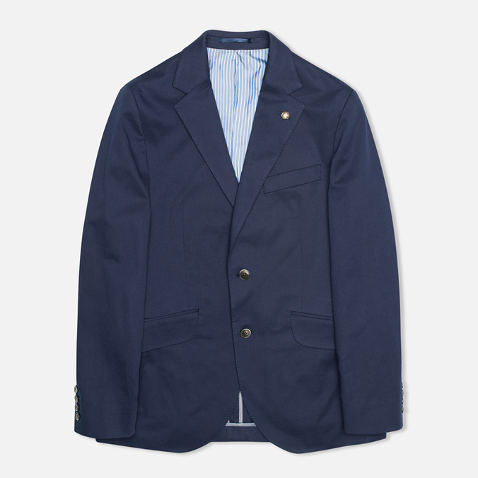 Мужской пиджак Hackett Single Breasted Cotton Twill Navy