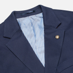 Мужской пиджак Hackett Single Breasted Cotton Twill Navy фото- 2