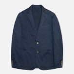 Hackett Single Breasted Garment Dye Men`s Blazer Navy photo- 0