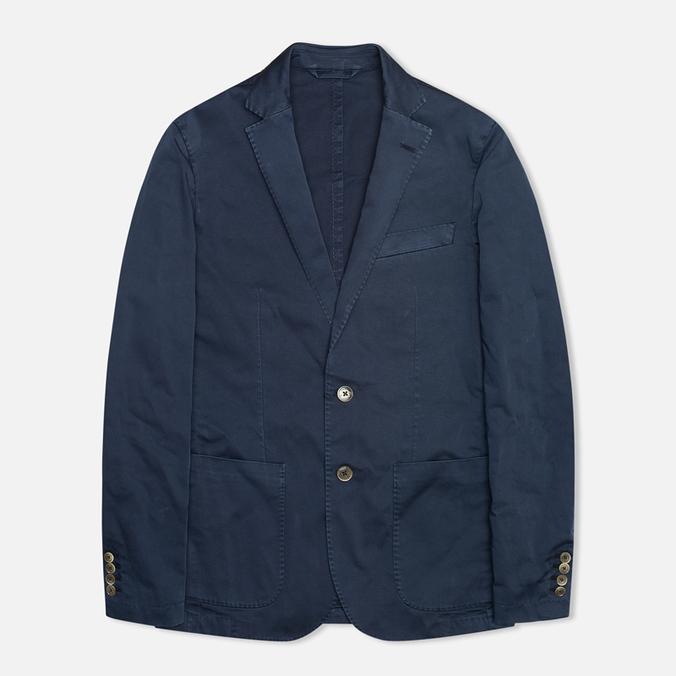 Мужской пиджак Hackett Single Breasted Garment Dye Navy