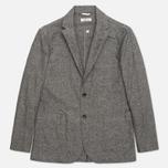 Мужской пиджак The Hill-Side Herringbone Tweed Tailored Grey фото- 0