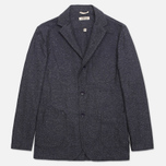The Hill-Side Herringbone Tweed Tailored Men`s Blazer Navy photo- 0