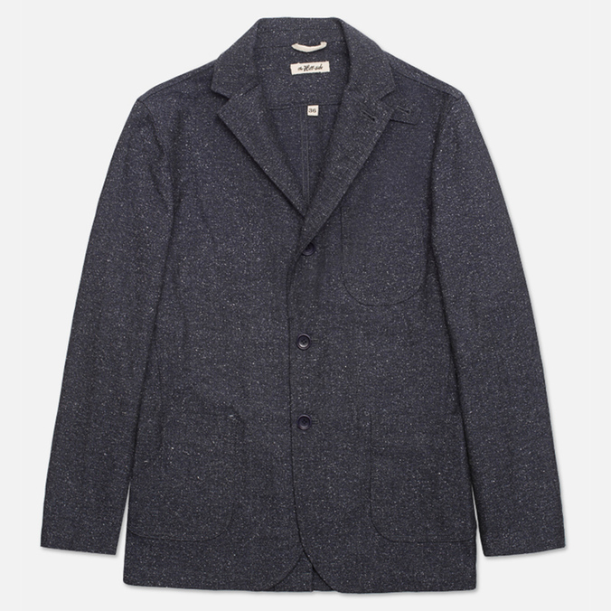 Мужской пиджак The Hill-Side Herringbone Tweed Tailored Navy
