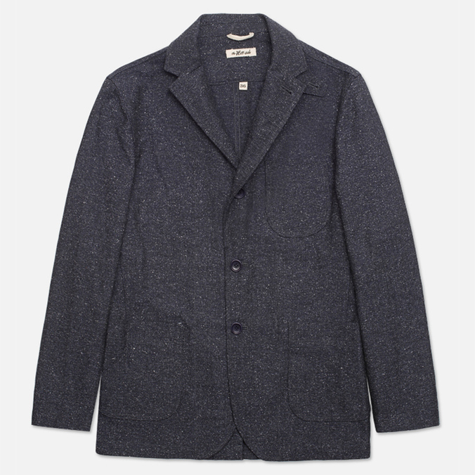 The Hill-Side Herringbone Tweed Tailored Men`s Blazer Navy
