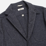 The Hill-Side Herringbone Tweed Tailored Men`s Blazer Navy photo- 1