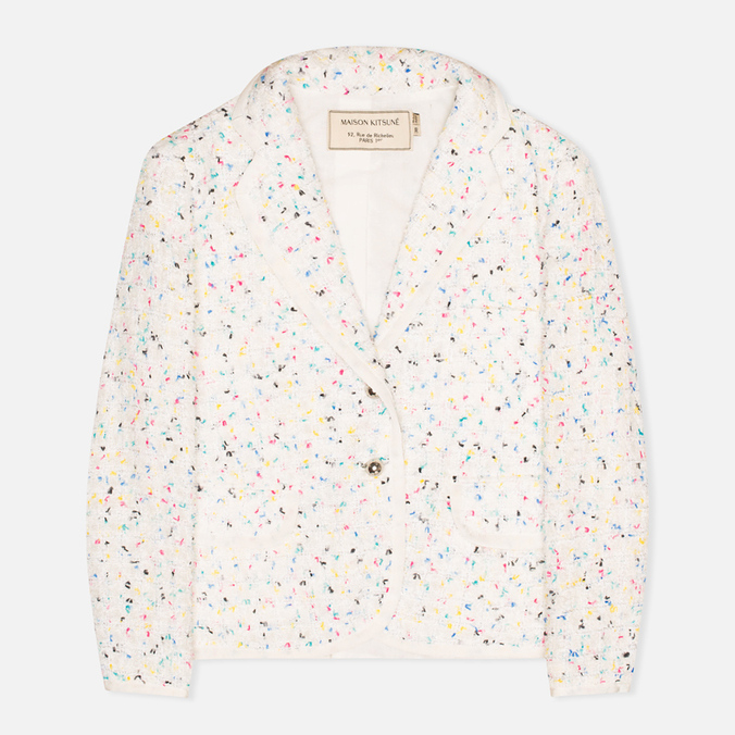 Женский пиджак Maison Kitsune Multicolored Tweed White