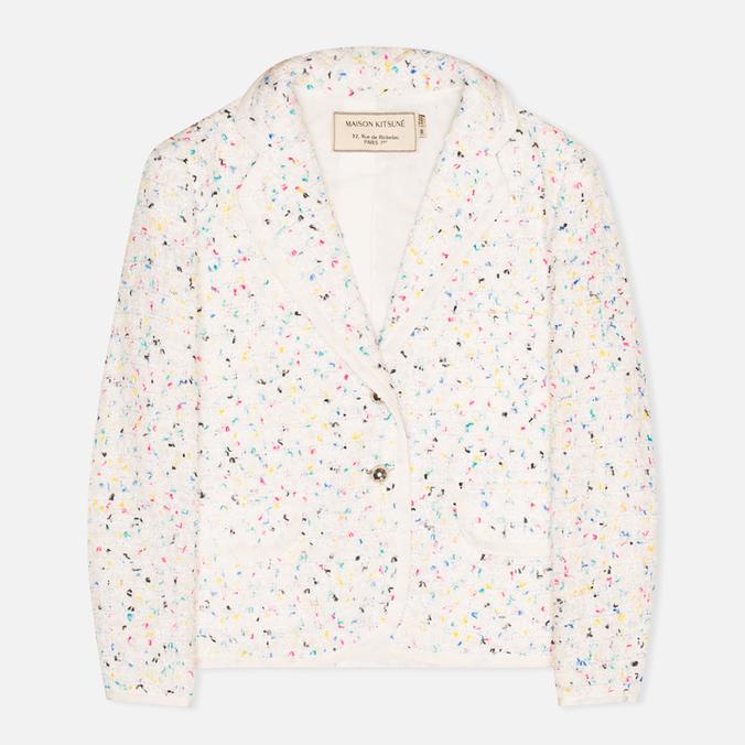 Maison Kitsune Multicolored Tweed Women's Blazer White