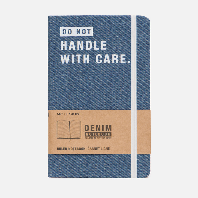 Блокнот Moleskine Limited Edition Denim Notebooks Large Ruler Don't Handle 240 pgs