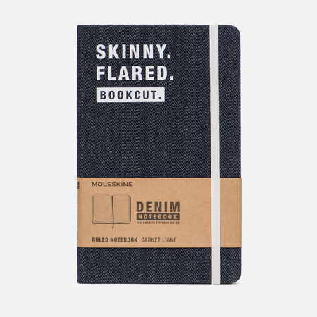 Блокнот Moleskine Limited Edition Denim Notebooks Large Ruler Skinny 240 pgs