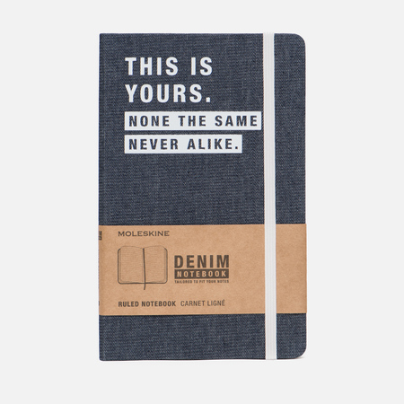 Блокнот Moleskine Limited Edition Denim Notebooks Large Ruler This Yors 240 pgs