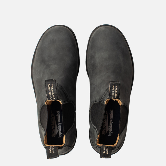 Мужские ботинки Blundstone 587 Round Toe Chelsea Leather Black