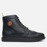 Fred Perry Northgate Boot Leather Men's Brogue Black photo- 0