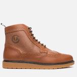 Мужские ботинки броги Fred Perry Northgate Boot Leather Tan фото- 0