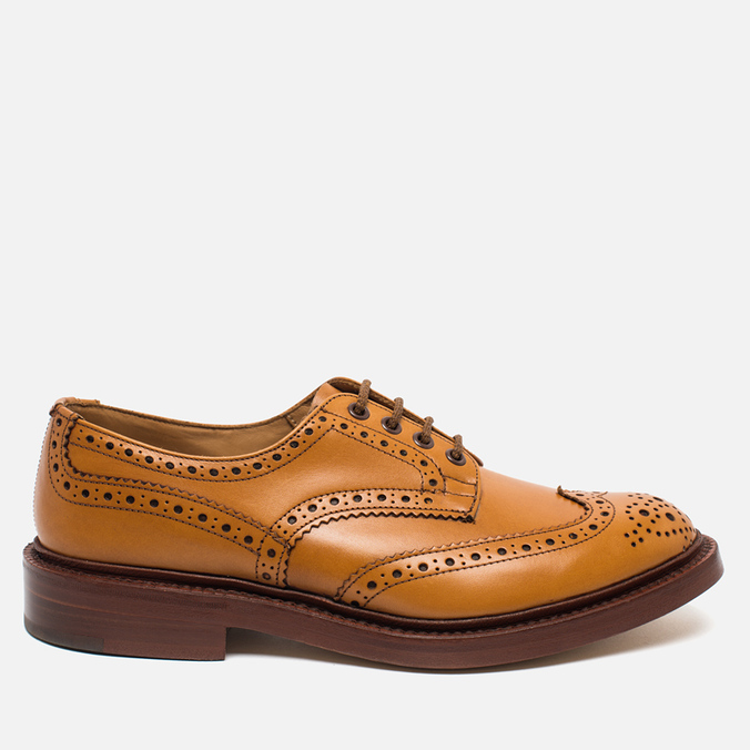 Мужские ботинки броги Tricker's Brogue Bourton Sole Leather Acorn Antique