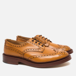 Мужские ботинки броги Tricker's Brogue Bourton Sole Leather Acorn Antique фото- 1