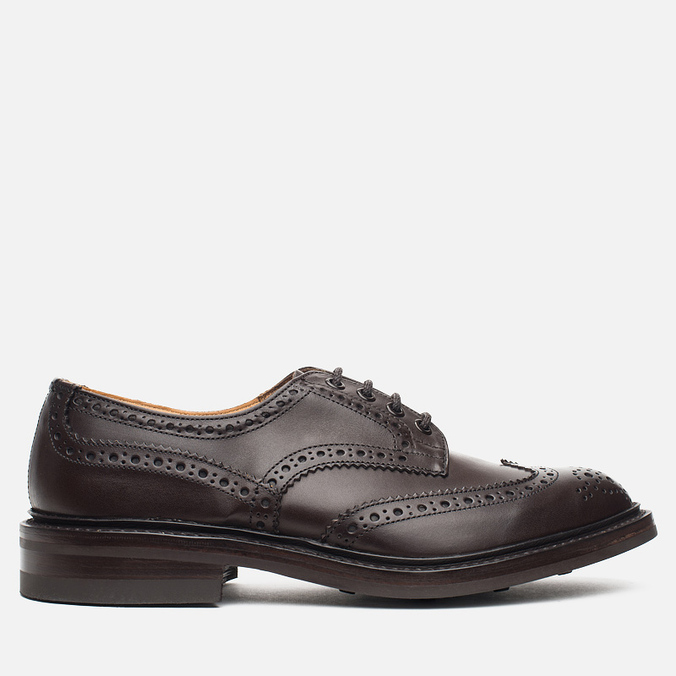 Мужские ботинки броги Tricker's Brogue Bourton Sole Dainite Espresso Burnished