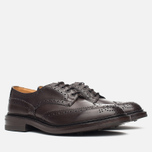 Мужские ботинки броги Tricker's Brogue Bourton Sole Dainite Espresso Burnished фото- 1