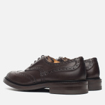 Мужские ботинки броги Tricker's Brogue Bourton Sole Dainite Espresso Burnished фото- 2