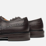 Мужские ботинки броги Tricker's Brogue Bourton Sole Dainite Espresso Burnished фото- 5