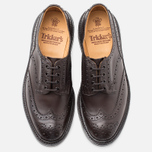 Мужские ботинки броги Tricker's Brogue Bourton Sole Dainite Espresso Burnished фото- 4