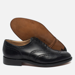 Мужские ботинки броги Tricker's Brogue Oxford Epsom Black Calf фото- 2