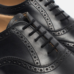 Мужские ботинки броги Tricker's Brogue Oxford Epsom Black Calf фото- 5