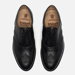 Мужские ботинки броги Tricker's Brogue Oxford Epsom Black Calf фото- 4