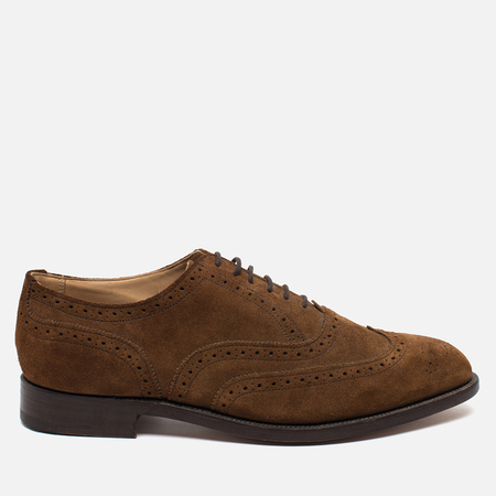 Trickers Brogue Piccadilly Men's Shoes Snuff Repello Suede