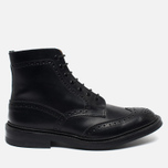 Trickers Heavy Brogue Stow Men's Shoes Black Calf photo- 0