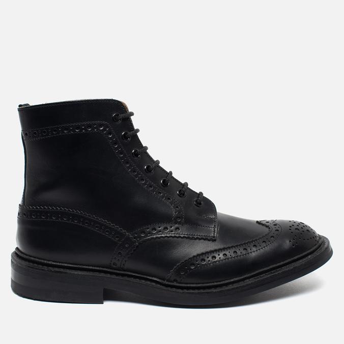Мужские ботинки броги Tricker's Heavy Brogue Stow Black Calf