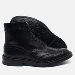 Trickers Heavy Brogue Stow Men's Shoes Black Calf photo- 2