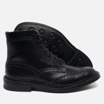 Мужские ботинки броги Tricker's Heavy Brogue Stow Black Calf фото- 2
