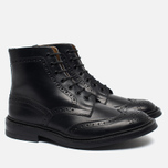 Trickers Heavy Brogue Stow Men's Shoes Black Calf photo- 1