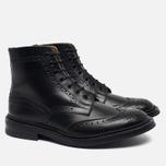 Мужские ботинки броги Tricker's Heavy Brogue Stow Black Calf фото- 1