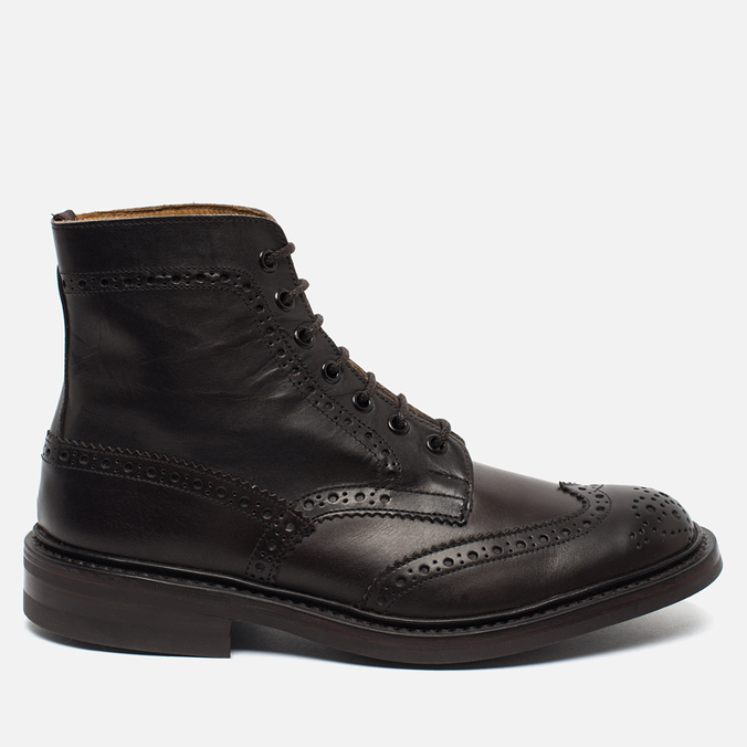 Мужские ботинки броги Tricker's Heavy Brogue Stow Espresso Burnished