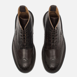 Trickers Heavy Brogue Stow Men's Shoes Espresso Burnished photo- 4
