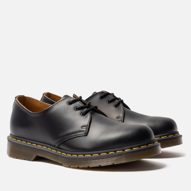 Ботинки Dr. Martens 1461 Yellow Stitch Smooth Black