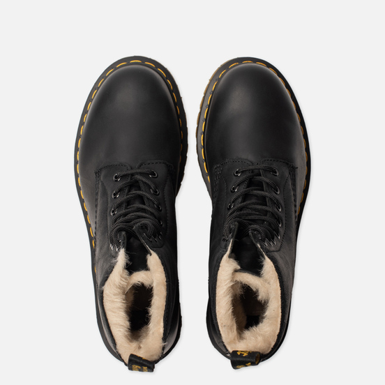 Ботинки Dr. Martens Serena Fur Lined Burnished Wyoming Black