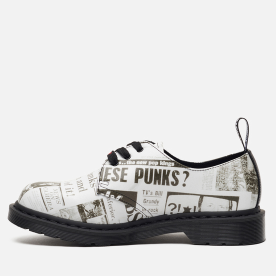 Ботинки Dr. Martens x Sex Pistols 1461 Smooth Leather White Backhand Straw Grain