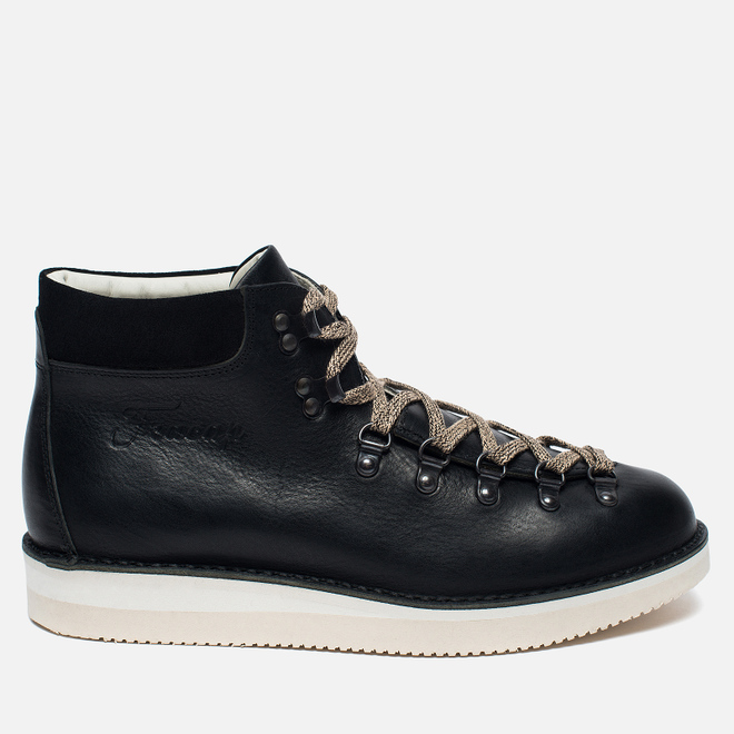 Ботинки Fracap M129 Scarponcini Suede Black/Gloxy White